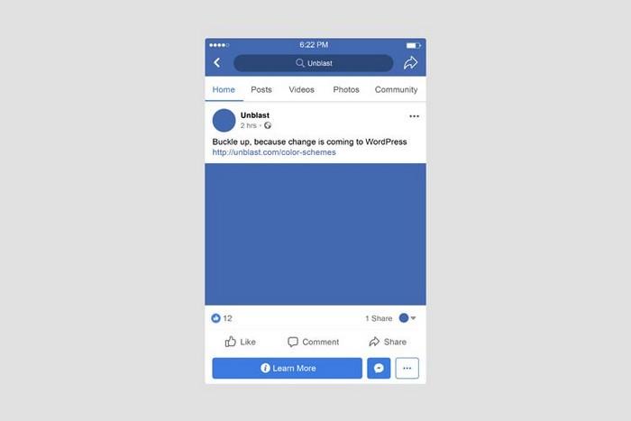 Facebook Mobile Post Mockup