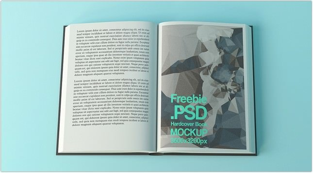 Free Hardcover Book Mock-Up