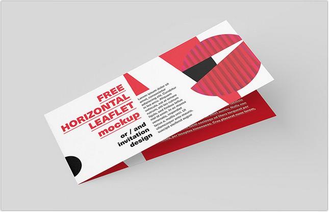 Free Horizontal Leaflet Mockup