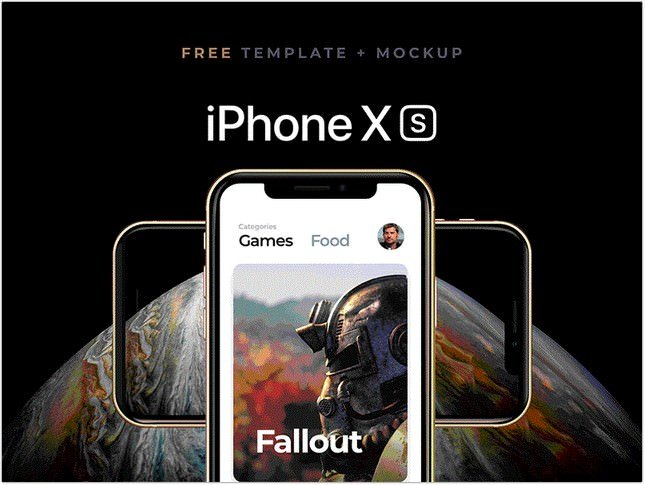 Sketch Template iPhone xs
