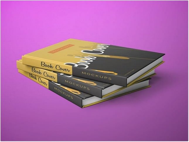 Front and Back Cover Book Mockups PSD
