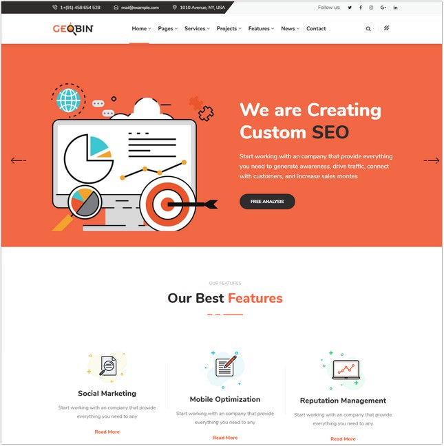 15+ Top Digital Marketing Agency Website Templates & Themes 2018