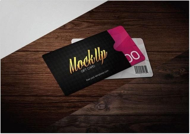 Gift Card Voucher Mock-UP