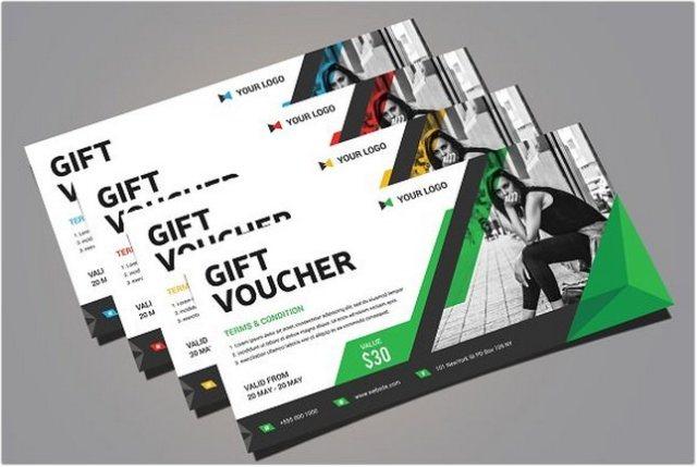 Gift Voucher PSD template