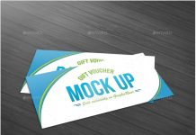 Gift Voucher Mock Up template