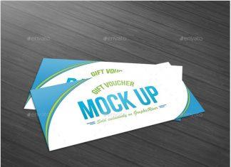 Gift Voucher Mock Up template