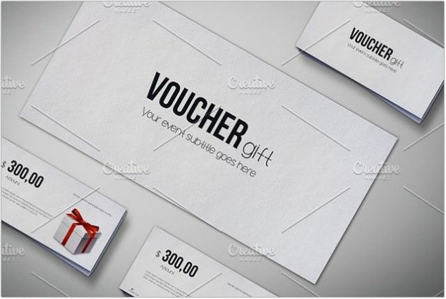 Gift Voucher Mock-Up psd