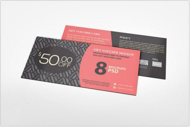 Gift Card Mockup template
