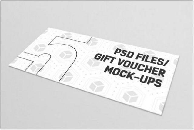 Gift Card Muckup psd