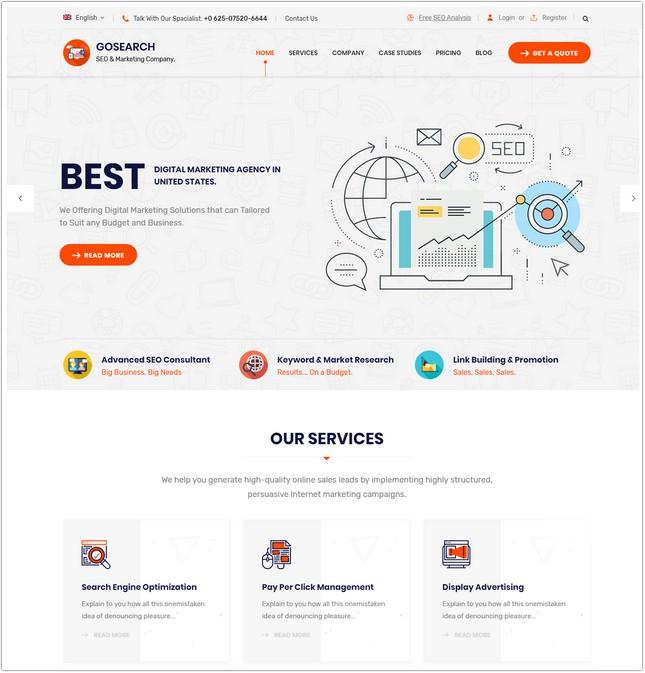 Digital Marketing Agency SEO HTML Template