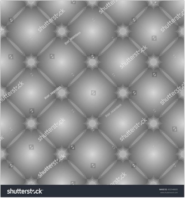Grey Pattern With Tufted Leather Texture