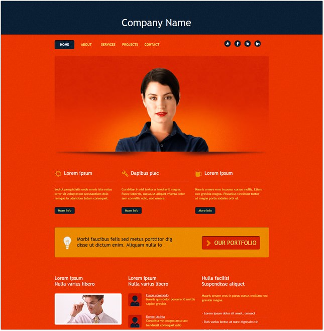 HTML 919 Template Free