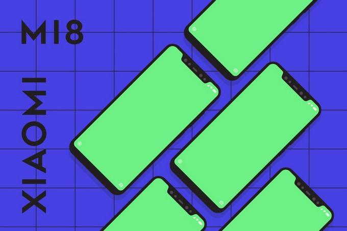 Xiaomi Mi8 Mockup