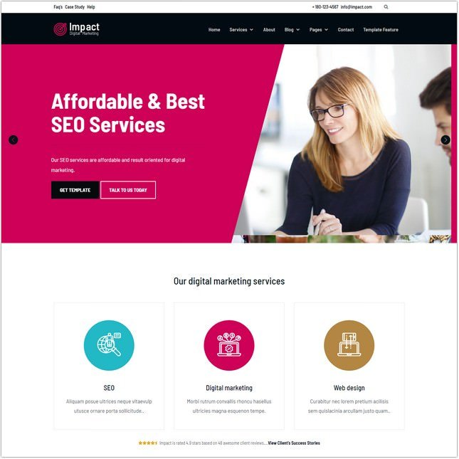 Impact an SEO Company HTML5 Website Template