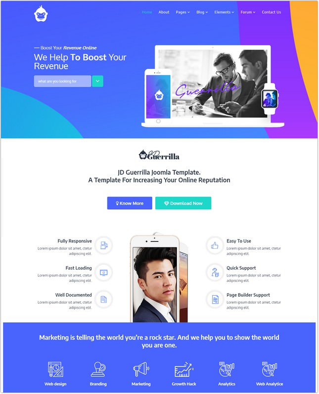 Digital Marketing Agency Joomla Template
