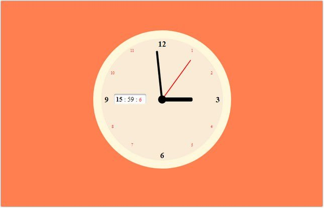Clock with Sound JS+CSS