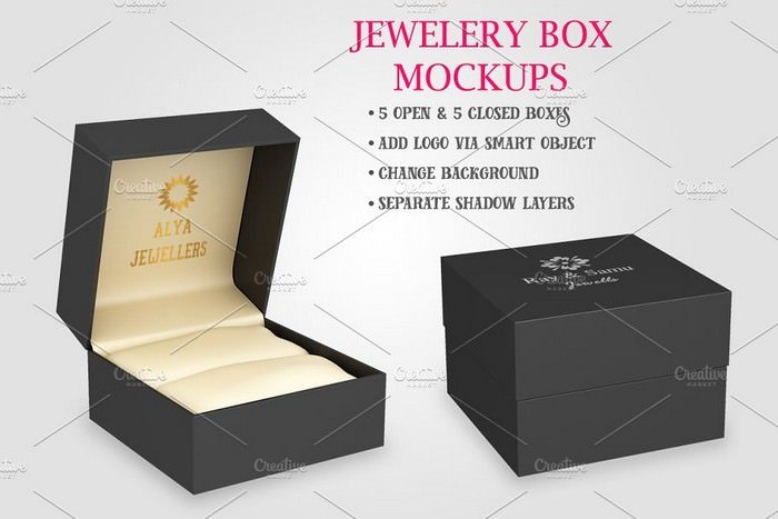 Jewelery Box Mockups Bundle