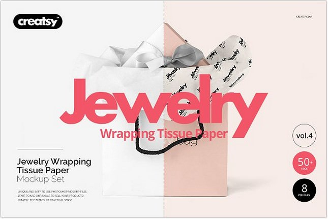 Jewelry Wrapping Paper Mockup