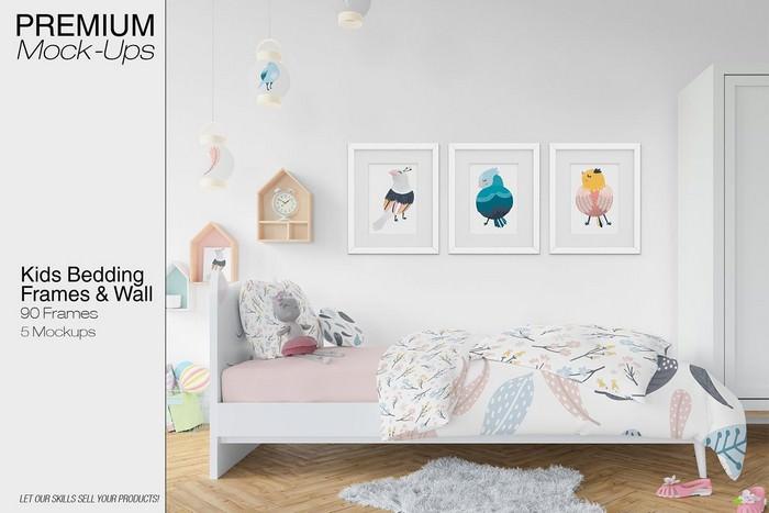 Kids Bedding, Frames & Wall Set
