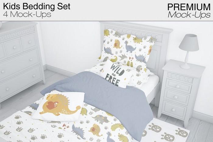 Kids Bedding Mockup Pack