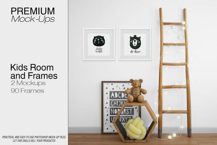Kids Room & Frame Mockup
