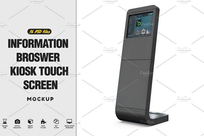 Kiosk Touch Screen Mockup