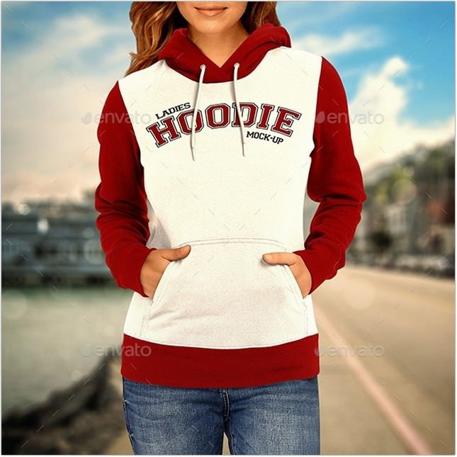 Ladies Hoodie PSD Mock-up