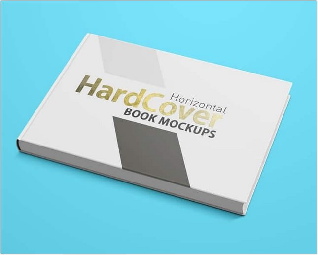 Landscape Hardcover Book Mock ups PSD