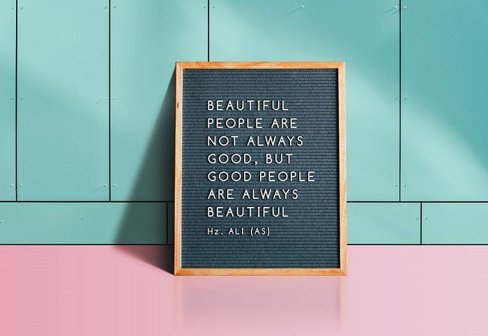 Letter Quotes Board Mockup