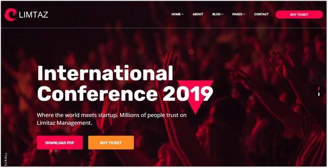 Event, Meeting and Conference HTML Template