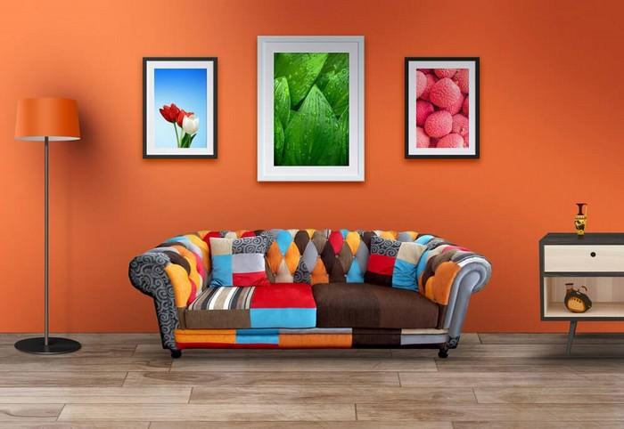 Living Room Wall Art Mockup PSDs