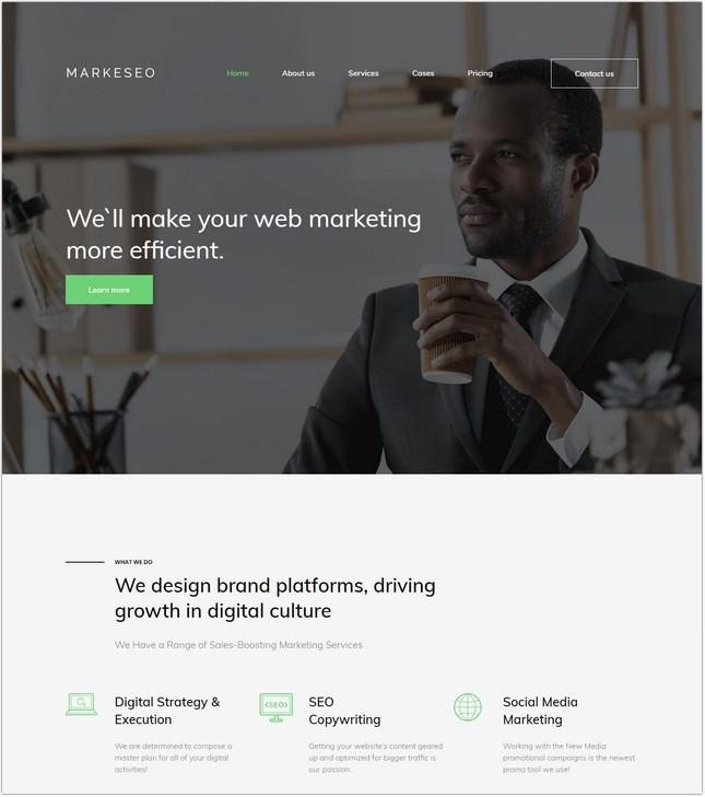 Digital Marketing Agency Premium Moto CMS 3 Template