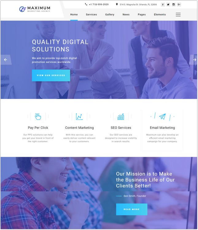 15 Top Digital Marketing Agency Website Templates Themes 2018