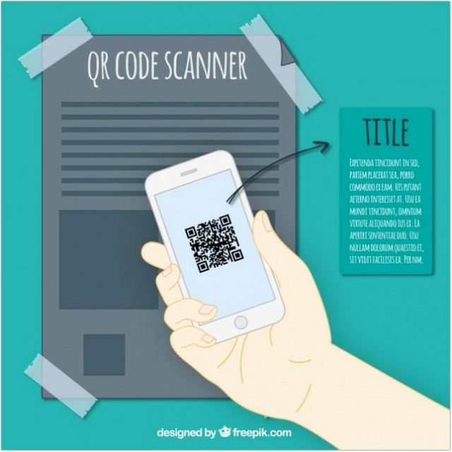 Mobile Background With QR Code Vector