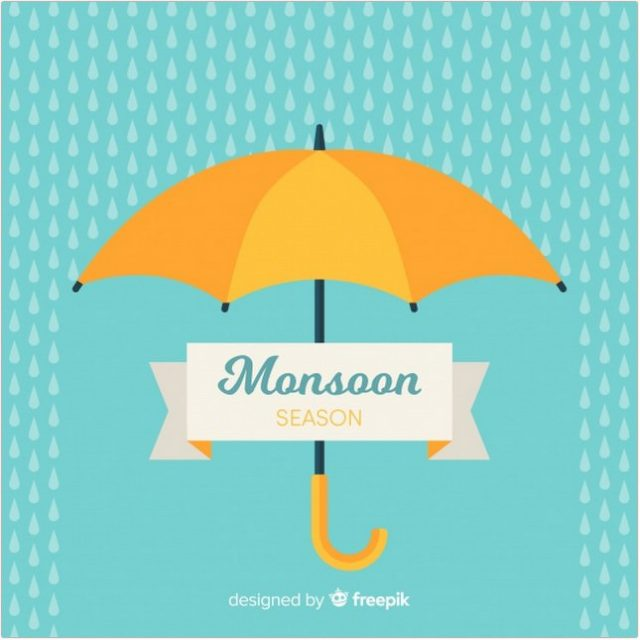 Monsoon Umbrella - Vector