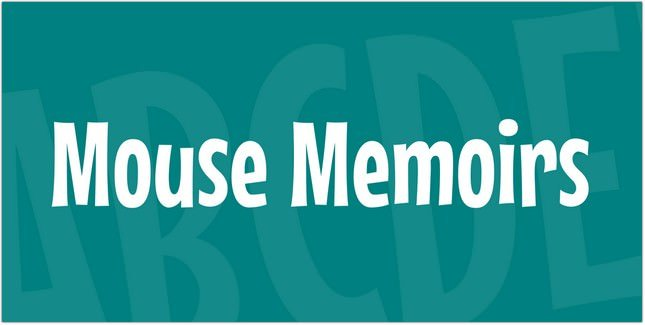 Mouse Memoirs Font free