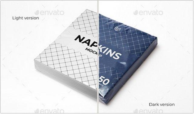 Multipurpose Napkins & Napkins-Pack Mockup