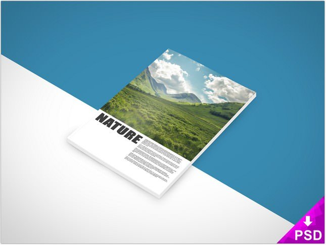 Nature Book Mock-up PSD Photoshop