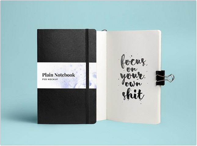 Notebook MockUp PSD Tempalte