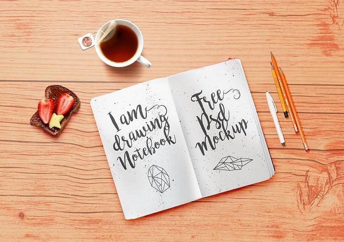 Notebook Mockup PSD