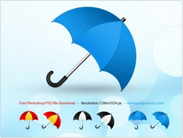 Umbrella psd, icon Free