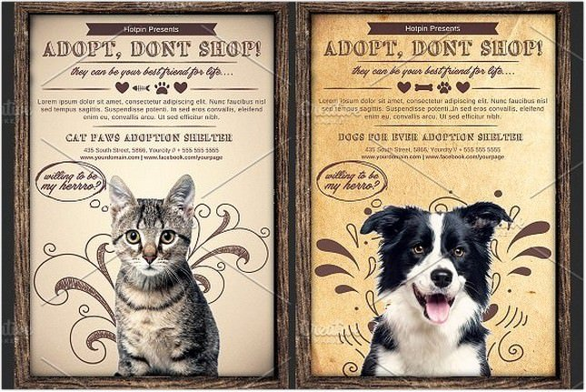 Pet Adoption Flyer