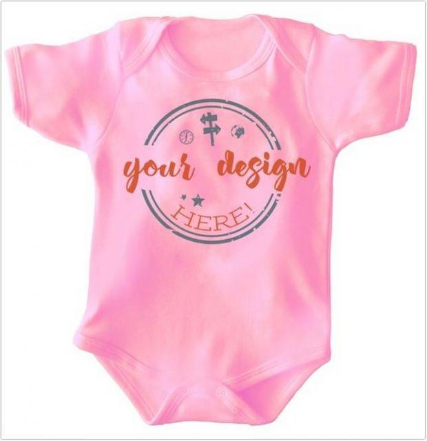 Pink onesie template