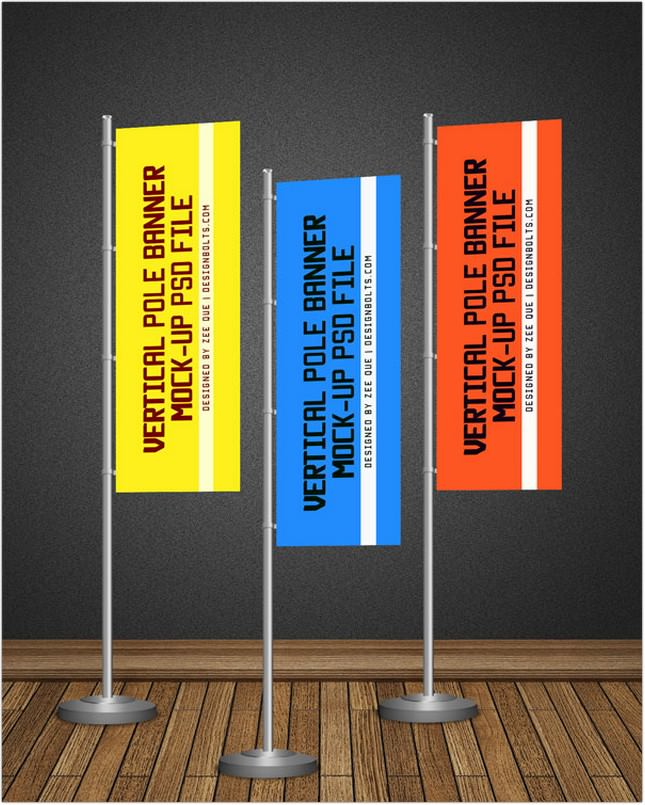 Pole Banner Mock-up PSD