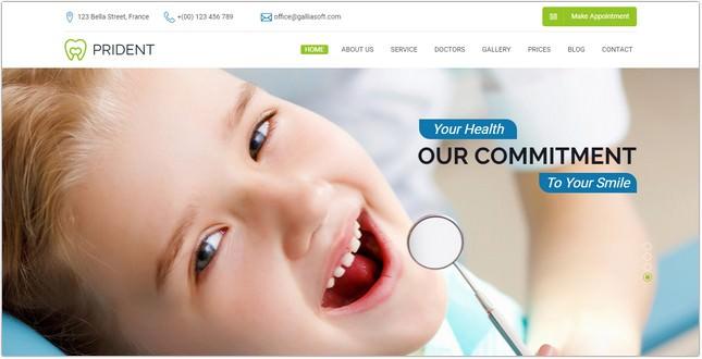 Dental HTML Template