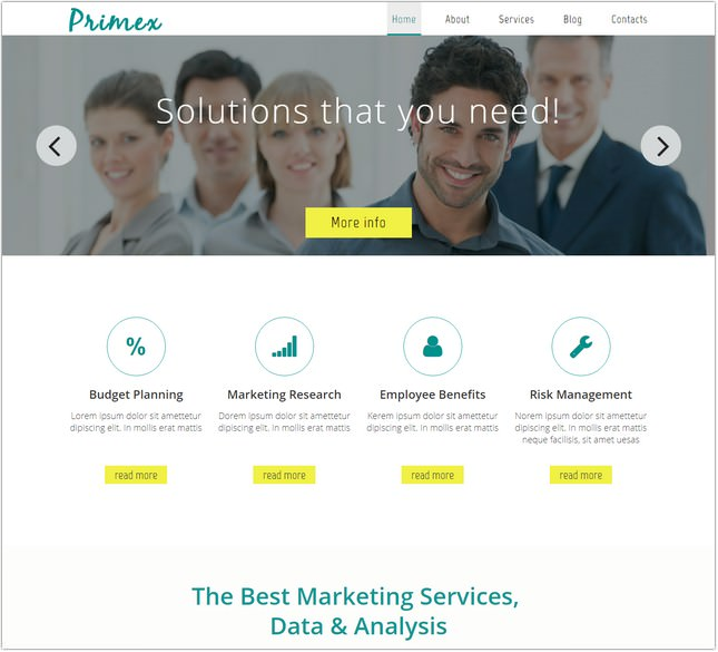 Primex Template free