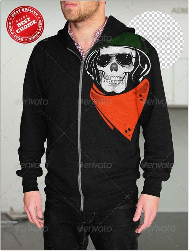 Professional male Hoodie PSD Mock-up