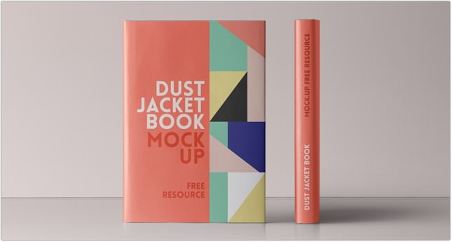 Psd Dust Jacket Book Mockup PSD