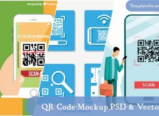 QR Code Mockup PSD
