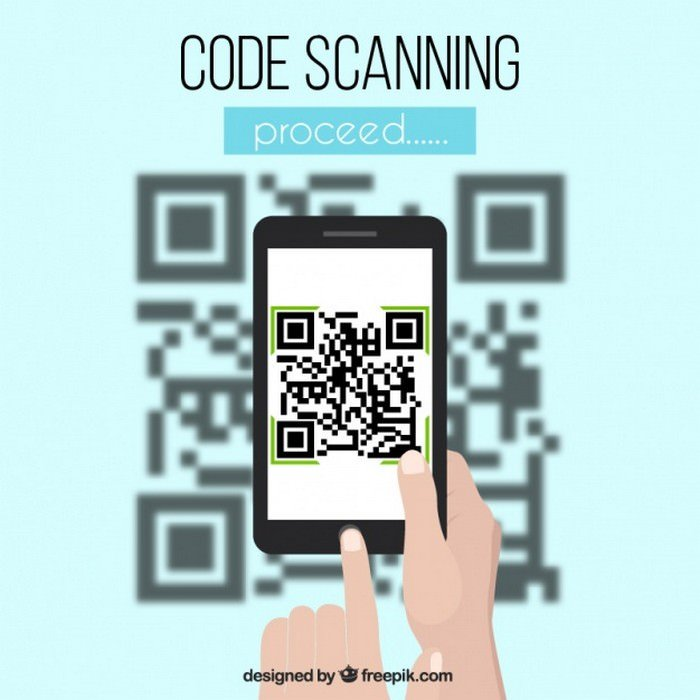 Qr And Mobile Code Blurred Background - Vector Free